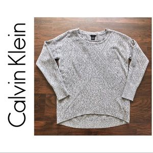 Calvin Klein Grey Long Sleeve Knit Sweater - T006